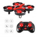 Dron UFO - mini Quadcopter - LED - czerwony