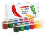 HAPPY COLOR FARBA PLAKATOWA TEMPERA 12 KOLORÓW PO 25ML
