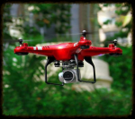 Dron z kamerą - QuadCopter Magic Speed X52 - czerwony
