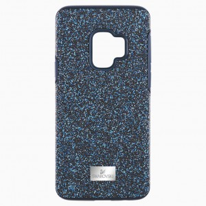 High Smartphone Case with Bumper, Galaxy S®9, Blue - Osłona do Samsunga