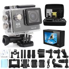 Action Camera 4K - Ultra HD - 30M Waterproof - srebrna