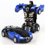 Toy Car Anime Action Figure - Transformacja - kolor niebieski