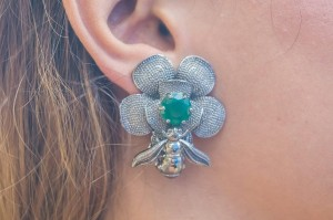 Black Bee Earrings