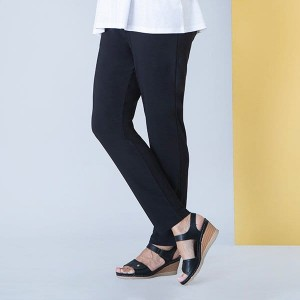 Anamor Slim Leg Pull-On Trousers