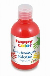 HAPPY COLOR FARBA DO MALOWANIA PALCAMI 300ML CZERWONY - Finger Paint