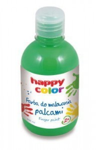 HAPPY COLOR FARBA DO MALOWANIA PALCAMI 300ML ZIELONY - Finger Paint
