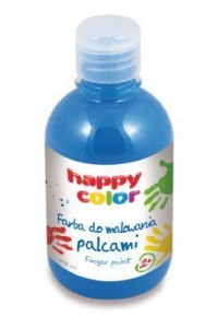 HAPPY COLOR FARBA DO MALOWANIA PALCAMI 300ML NIEBIESKI - Finger Paint