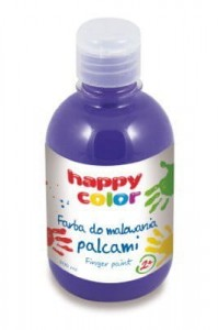 HAPPY COLOR FARBA DO MALOWANIA PALCAMI 300ML FIOLET - Finger Paint