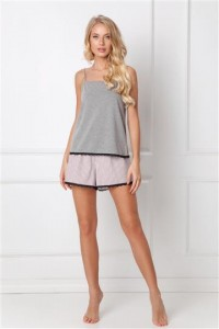 Pizama Adelide Short Dark Grey