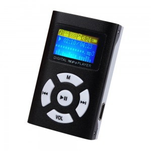 Mini MP3 - czarna z ekranem LCD